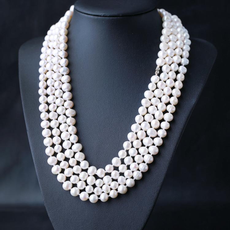 璀璨匀称饱满天然珍珠长链