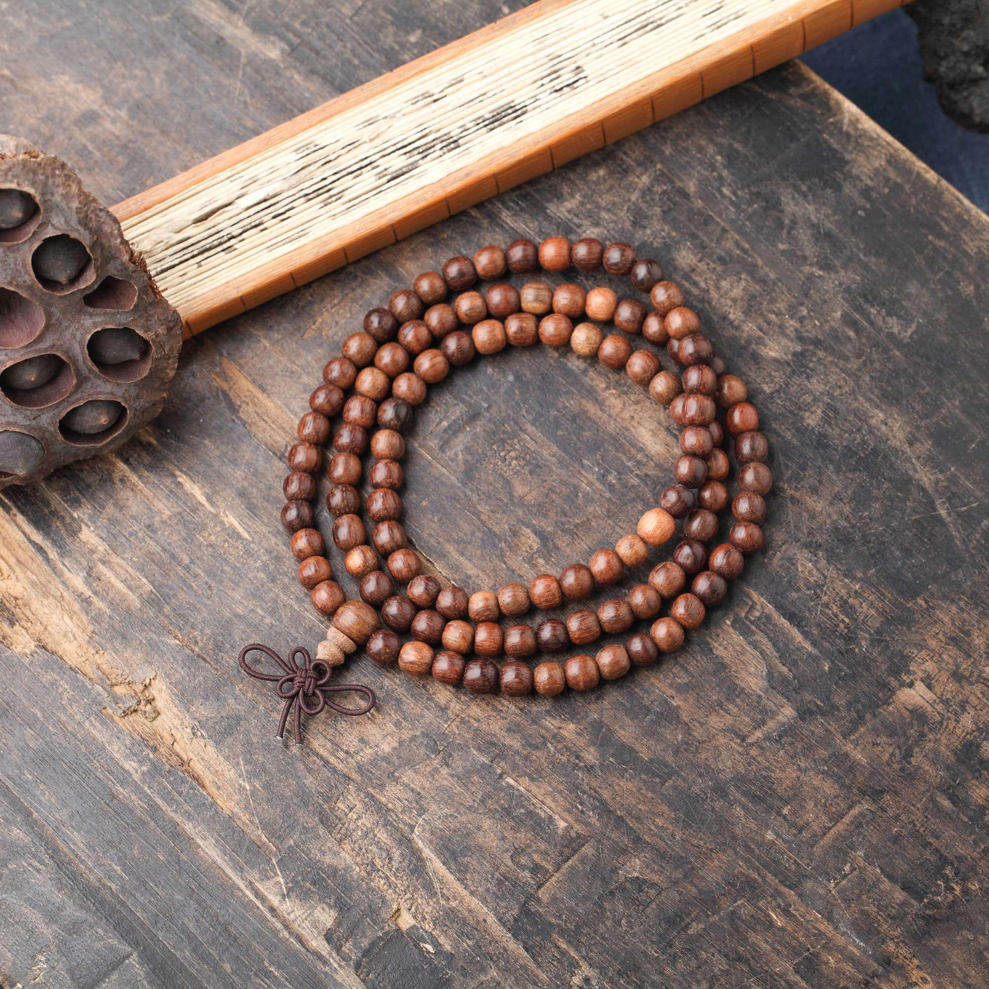 越南红土收藏级沉香素珠6mm×108长串